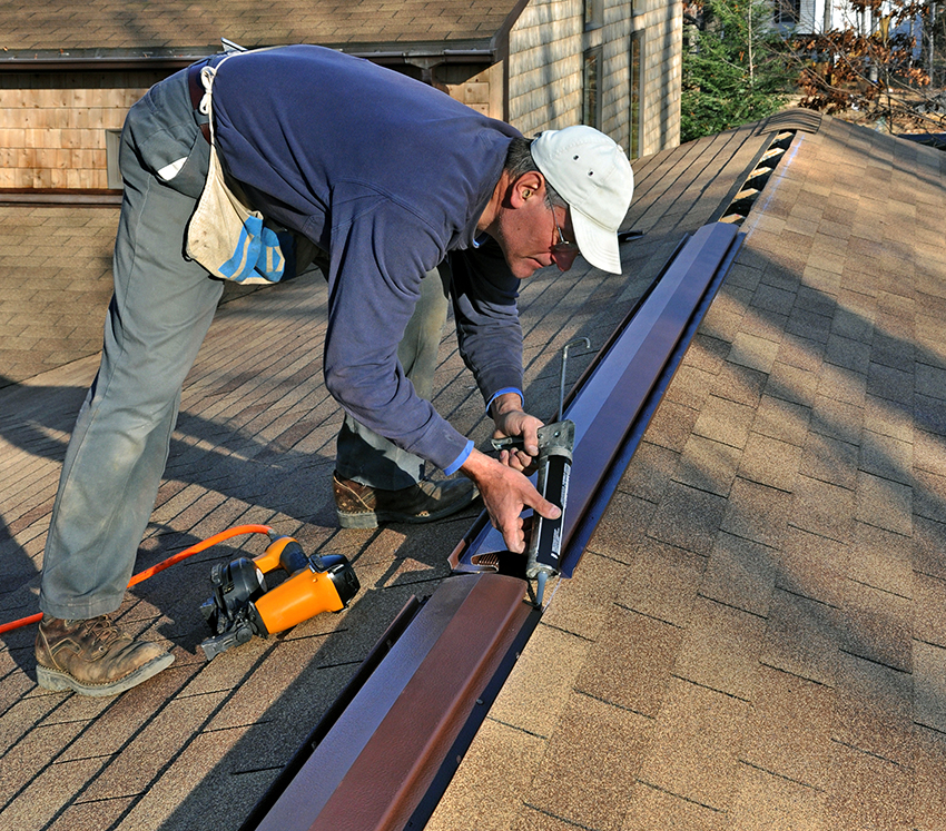 Качество установки аэратора зависит от типа крыши, ее размеров и состояния