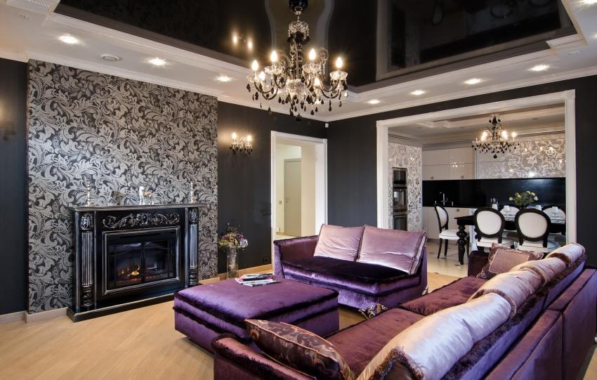 Гостиные, оформленные подобным образом, создаются исключительно для личностей выдержанных и преданных лучшим традициям в дизайне