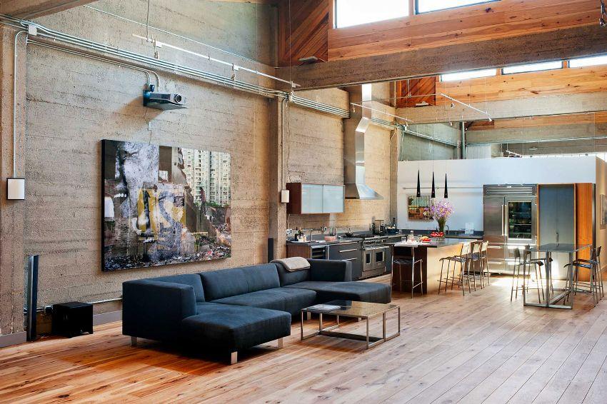 Гостиная в современном тиле - просторное помещение с минимальным набором мебели