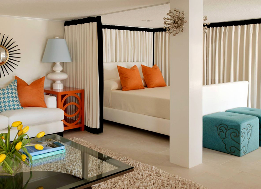 Помещение 16 м² позволяет обустроить удобную и уютную спальню-гостиную