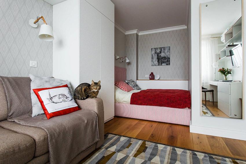 Процесс обустройства общего помещения, в первую очередь, будет зависеть от площади комнаты
