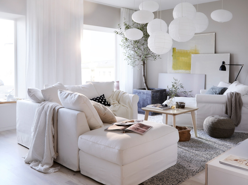 Белый цвет способен наполнить помещение светом и пространством