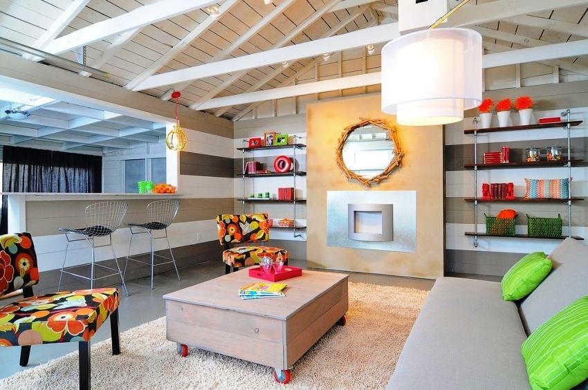Мебель в гостиной должна сочетаться со стилем помещения