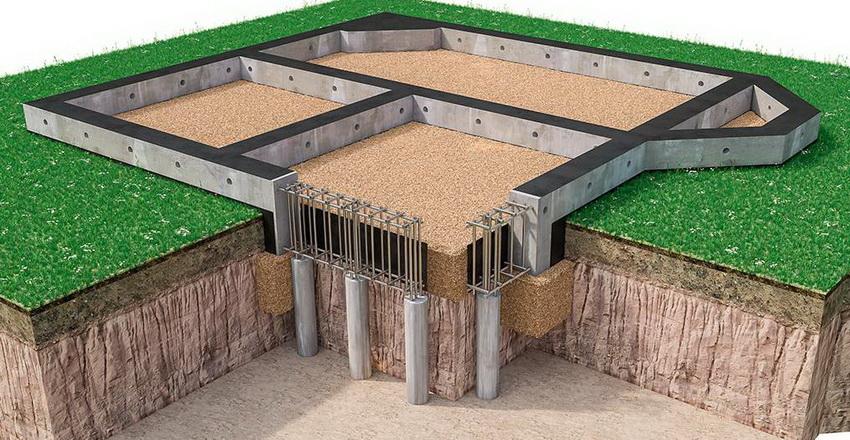 Конструкция свайно-монолитного фундамента