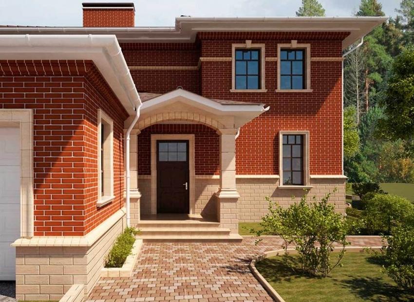 Материал для покрытия цоколя стоит выбирать исходя из типа основания и общего дизайна отделки здания