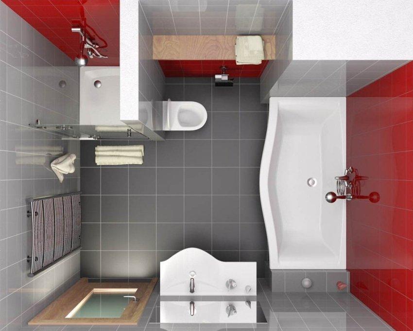 На этапе строительства собственного дома можно принять план, согласно которому можно выбрать любые подходящие параметры санузла