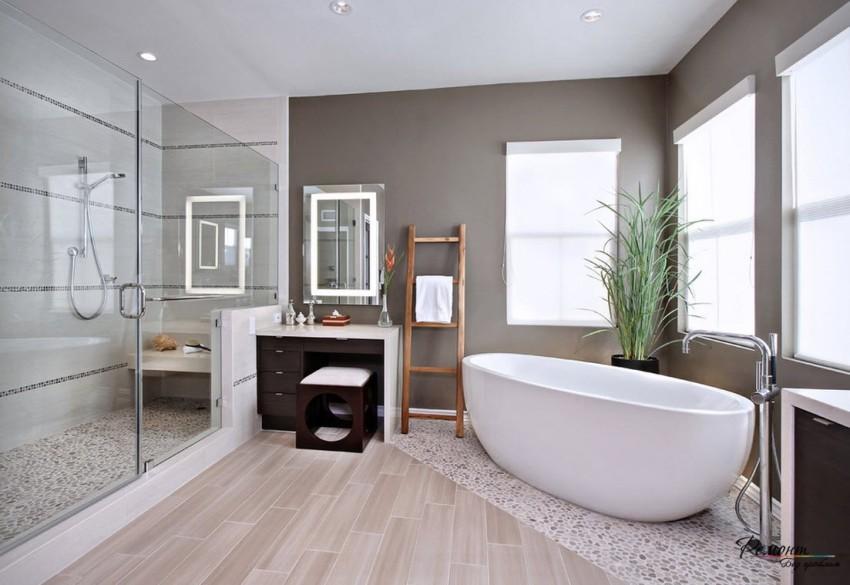 Площадь большой ванной комнаты начинается от 10 кв м
