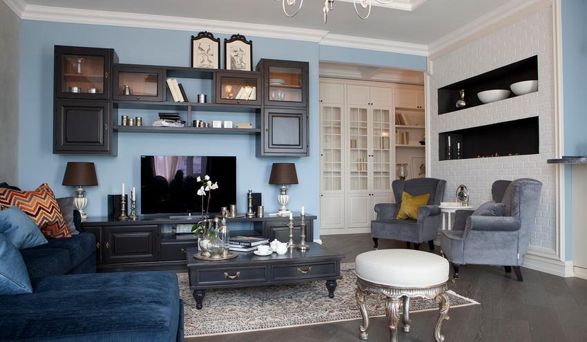 Выбор дизайна стенки полностью зависит от общей концепции интерьера
