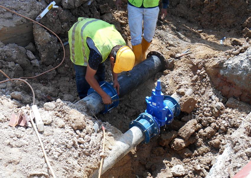 Работы по проведению системы водоснабжения