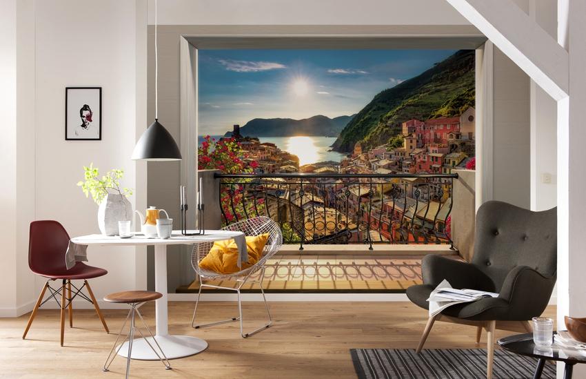 Живописные пейзажи наполняют дизайн комнаты непревзойдённой красотой окружающей природы