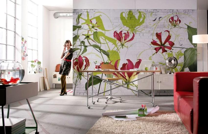 К любому стилю интерьера можно подобрать свой особенный цветочный принт