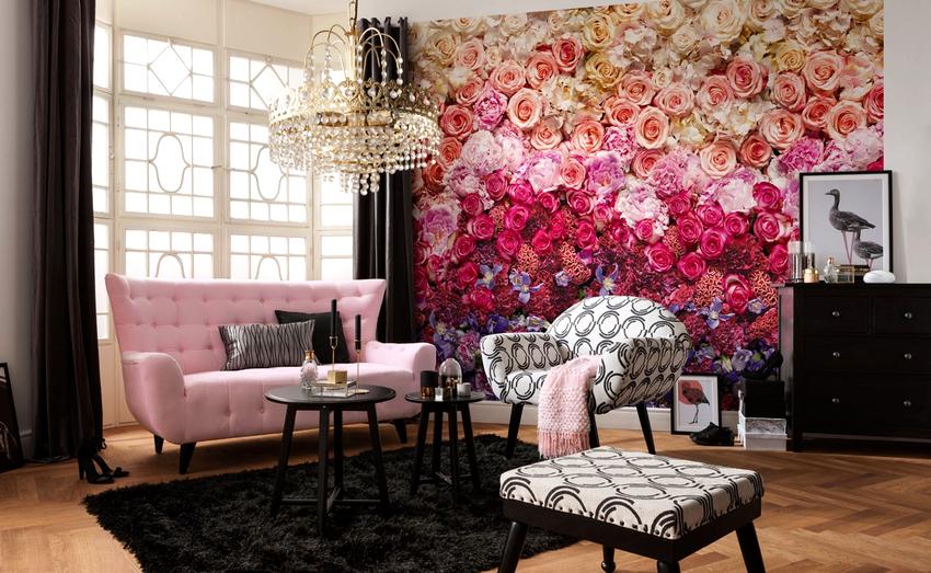 Среди всех цветочных фотообоев особое место занимают полотна с изображением роз
