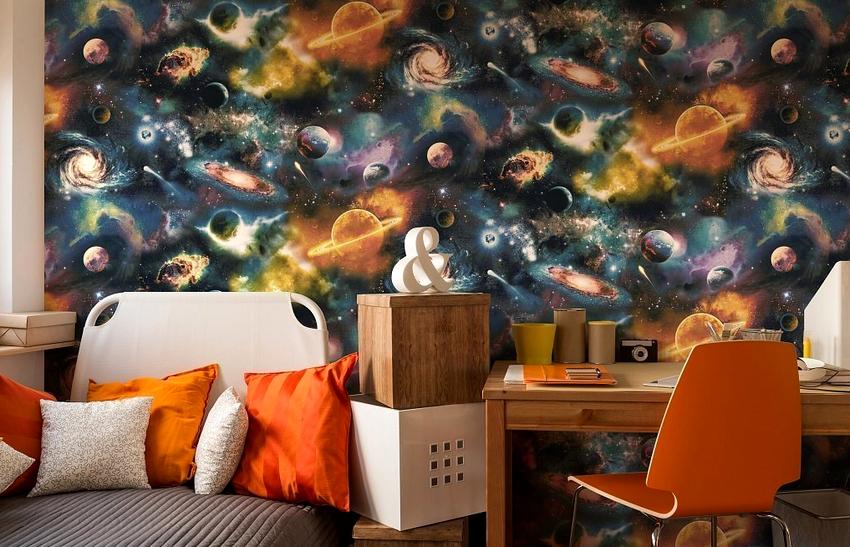 Фотообои с изображением космоса олицетворяют бесконечность и загадочность Вселенной