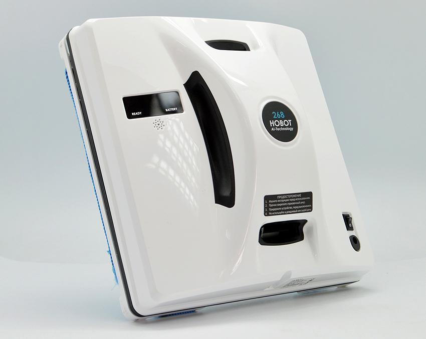 Агрегат для чистки окон Hobot-268 имеет размеры 240х240х105 мм