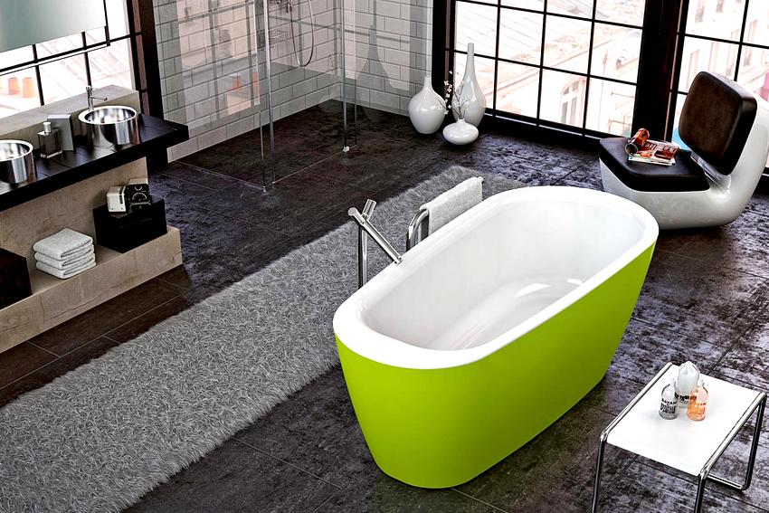 Акриловые ванны делятся на два вида: модели с покрытием и литьевые
