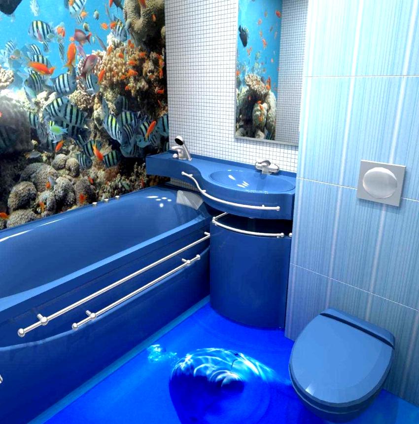 Комплект из ванны, унитаза и раковины не только придаст оригинальный вид комнате, но и позволит визуально ее увеличить