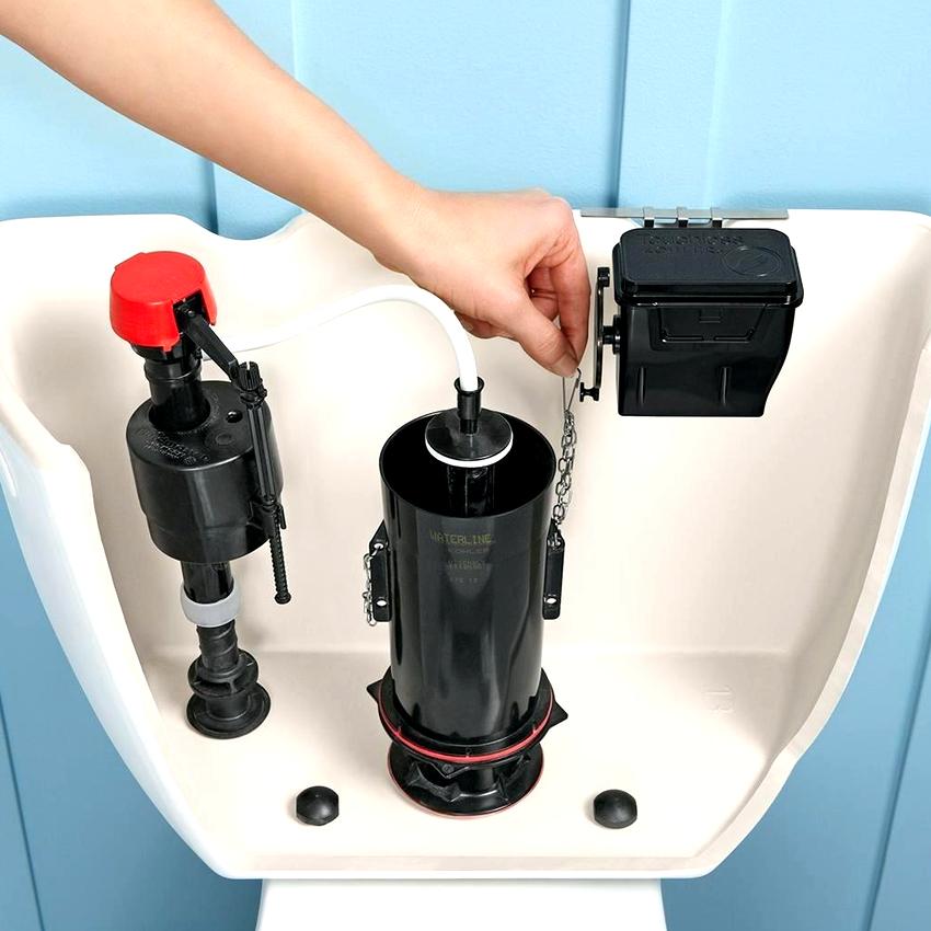 По способу подачи воды в бачок различают такие виды арматуры как нижняя, верхняя, универсальная