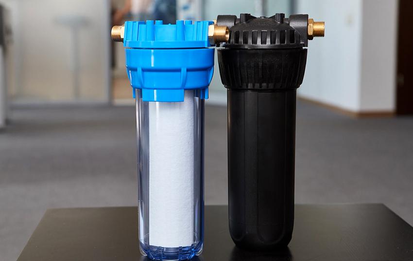 Магистральные фильтры для воды могут быть одно-, двух- и трехступенчатыми