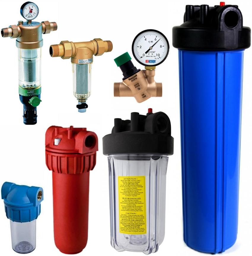 Магистральные фильтры могут быть для грубой и тонкой очистки воды