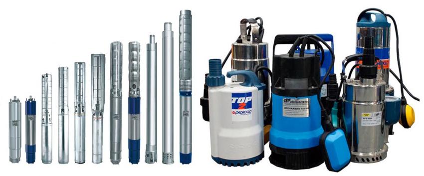 Глубинные насосы для скважин и дренажно-фекальные устройства