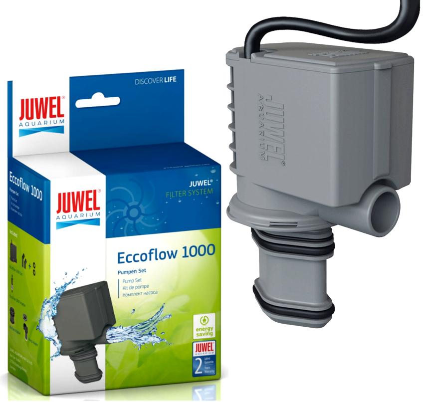Маленькие насосы Juwеl Eccоflow характеризуются низким уровнем шума и комплектуются фильтрами со встроенными адаптерами
