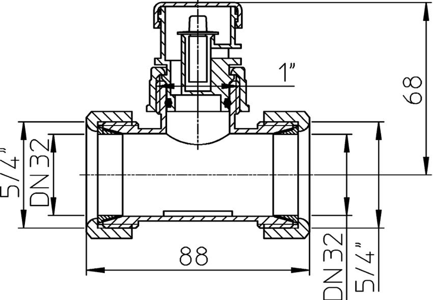 Схема устройства воздушного обратного клапана для канализации