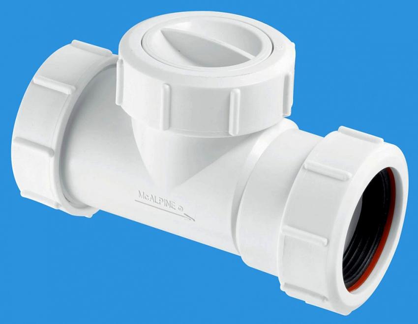Обратный клапан должен быть изготовлен из такого же материала, как и трубопровод