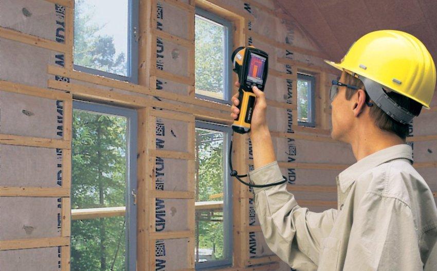 Тепловизионный контроль выявляет все дефекты, влияющие на потерю тепла и нарушение микроклимата помещения