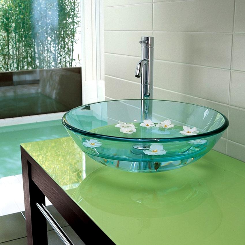 Раковины в ванную комнату изготавливаются из фарфора, фаянса, керамики, стекла, металла, камня
