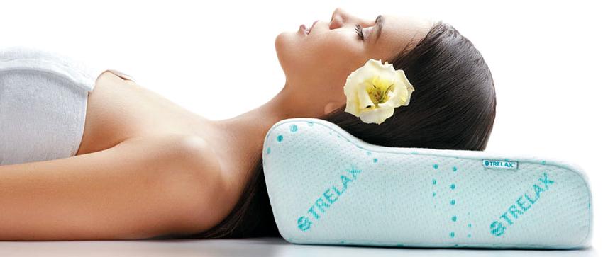 Наилучшим ортопедическим изделием для сна признана подушка с эффектом памяти Trelax Respecta