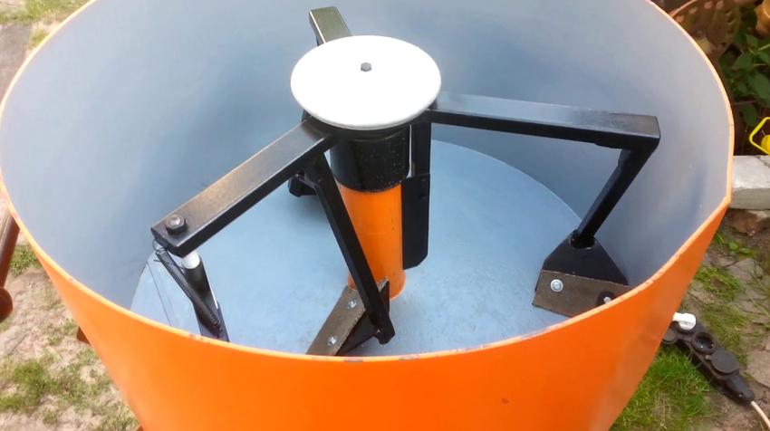Принцип действия бетоносмесителей может быть принудительного и гравитационного типа