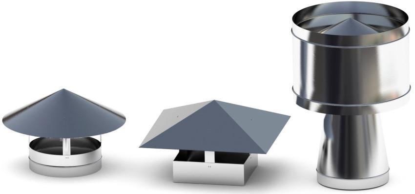 Чтобы исключить попадание осадков внутрь системы устанавливается защитный зонт