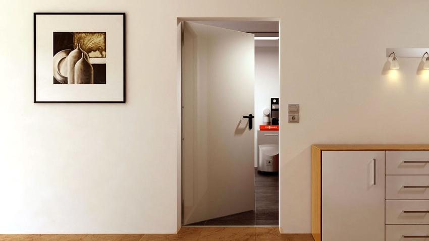 ГОСТ 31173-2003 регламентирует место установки, особенности конструкции, направление открывания и способ отделки стальных противопожарных дверей