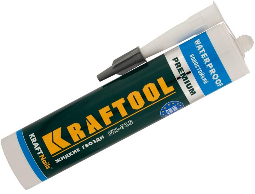 Жидкие гвозди Kraftool KN-915 отличаются водо- и морозостойкостью