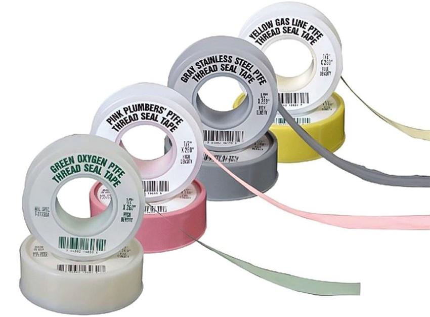 Различные цвета ленты указывают на материал, с которым можно работать: газ - желтый, нержавейка - серый, водопровод - розовый, кислород - зеленый